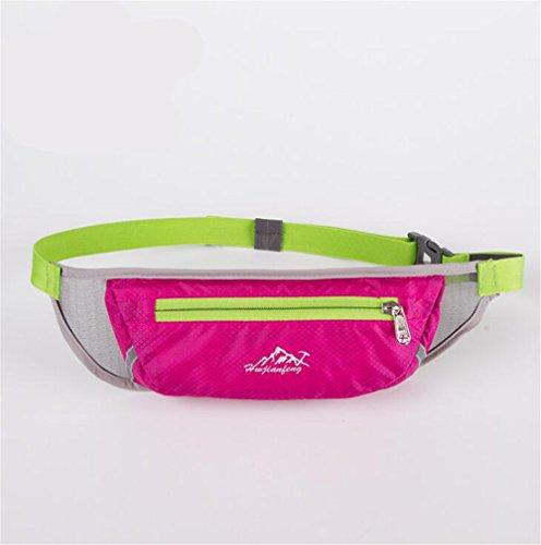 Wmshpeds Maratona di fitness borsa in esecuzione per esterno multi-funzione musica sport mobile cinghia con foro per auricolari C