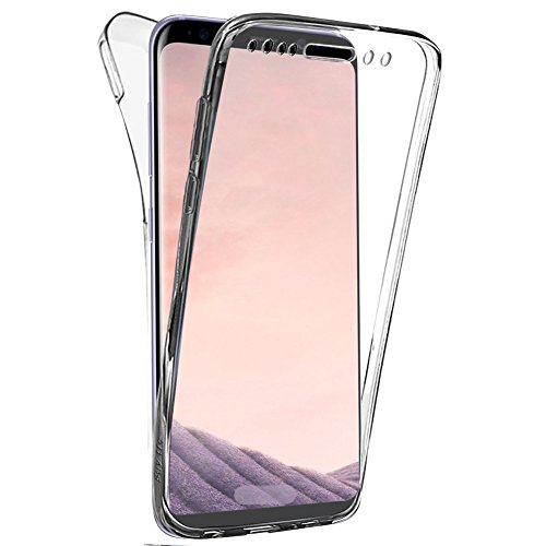 Coque Gel Samsung S8 , Buyus Coque 360 Degres Protection INTEGRAL Anti Choc , Etui Ultra Mince Transparent INVISIBLE pour Galaxy S8 , Coque S8