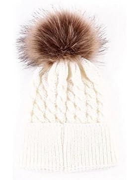 Baby Strickmützen,Amlaiworld Neugeborenen niedliche Winter Kinder Baby gestrickt Wolle säumen Hut Hüte