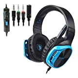 LCLrute R17 Stereo-Gaming-Headset, für PC/PS4/Xbox One, Surround-Sound, Over-Ear-Kopfhörer mit Anti-Noise Mikrofon, Mac, Smartphone, Spiele