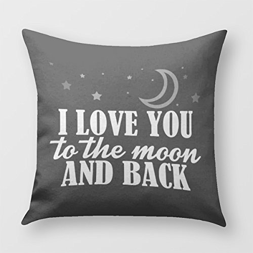 I Love You To The Moon And Back Pillow Cover for Sofa or Bedroom