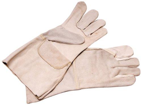 Aparoli 8908 Professioneller Schweißhandschuh - Narbenleder mit langer Stulpe, Gr. 10
