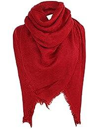 ae8c7b8eb1a4 MRULIC Echarpes foulards femme Grande Taille Femme Homme Echarpe Hiver  Chaud en Cachemire Imitation Carreaux Doux