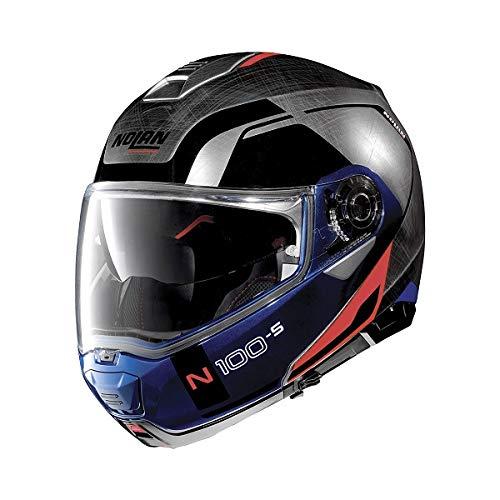 Nolan N100-5 Consistency N-Com Klapphelm M (58) Blau/Silber