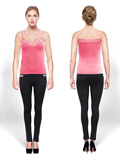 Ma Coquette Damen Schlauch T-Shirt Fuchsia
