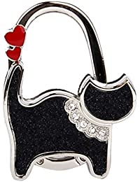 Gancho Plegable para Bolso en Forma de Gato Negro