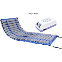 Medical Anti-Decubitus Air Mattress Single Hemorrhoids Pad Home Wave Inflatable Cushion Elderly Patient Gas Mattress Wave Ventilation Function Grey Bearing Weight 140 Kg 190 * 90cm