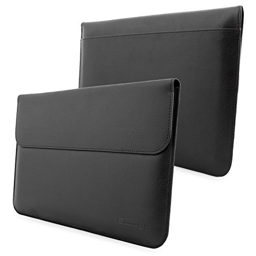 Surface-Book-Sleeve-Snugg-Black-Leather-Sleeve-Case-Lifetime-Guarantee-Protective-Cover-for-Surface-Book