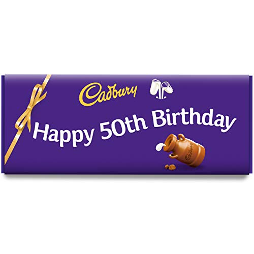 Happy 50th Birthday Dairy Milk 850g Bar by Cadbury Gifts Direct