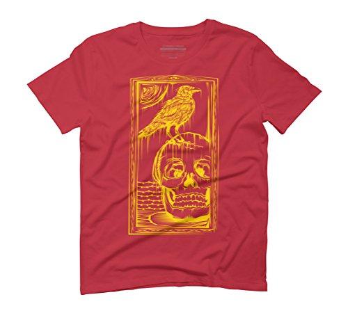 raven & skull Men's Graphic T-Shirt - Design By Humans Red