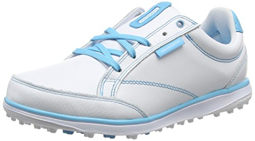 ADIVI|#Adidas Cardiff ADC, Damen Golfschuhe, Weiß (White/Light Aqua/air Force Blue), 36 2/3 EU