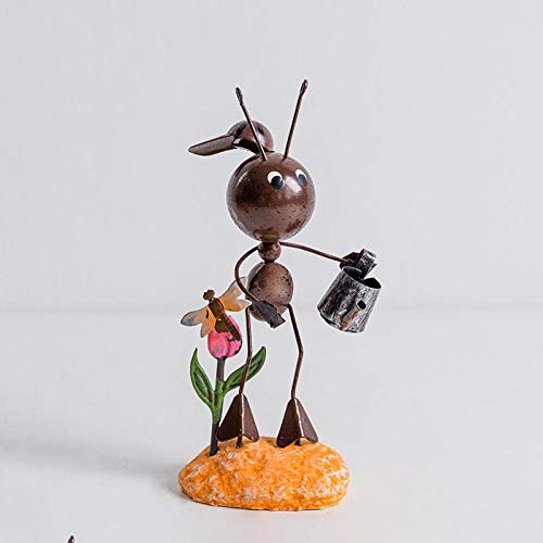 Estatuas Jardín de jardín Mini Hormigas Mariquita joyería artesanía Accesorios para el hogar Pintados a Mano un Gran Adorno - Hormiga 2: Amazon.es: Hogar