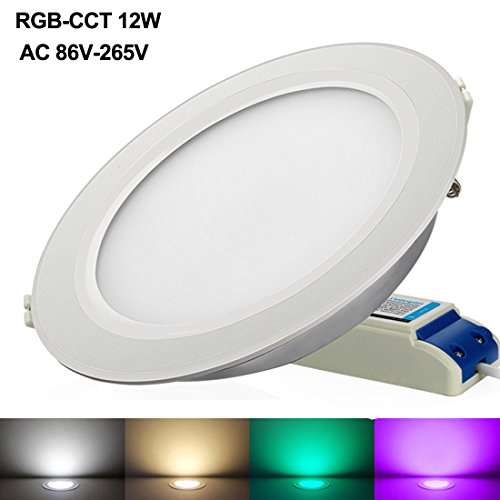 Downlight LED regulable RGBW con mando a distancia marca WOWLITE