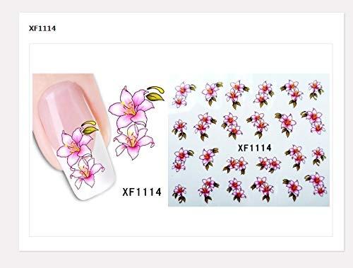 LCFCJK Nagel-Aufkleber 3D Blume Nail Art Sticker Aufkleber Selbstklebende Nagel Aufkleber Dekoration, (10 Fotos), A3