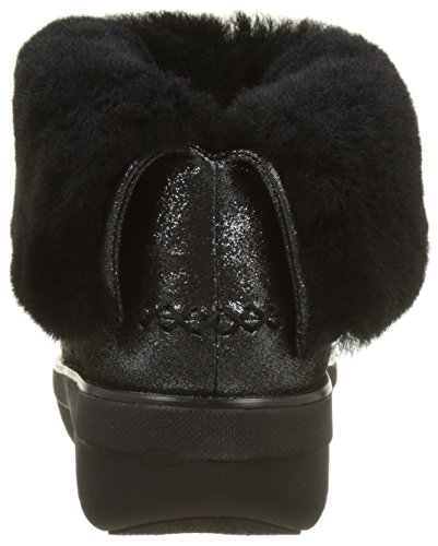 Fitflop Mukluk Shorty 2 Shimmer Boots, Stivaletti Donna Nero (Black Shimmersuede)