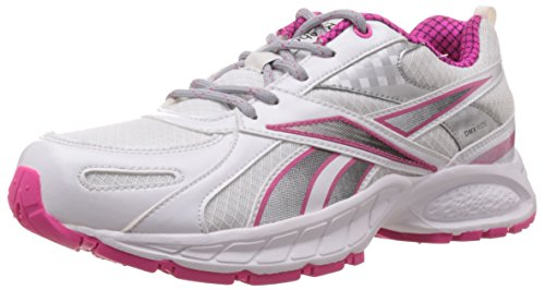 Reebok Women's Acciomax 4.0 Lp White,Dynamic Pink and Silver Running Shoes - 4 Uk  available at amazon for Rs.2799