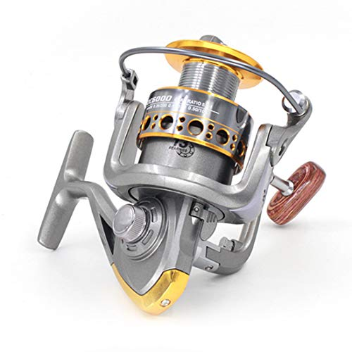 PIY Goture Spinning Fishing Reel Metal Spool 13 Ejes 5.2: 1 for Freshwater Saltwater,1000 (Offshore Spinning Reel)