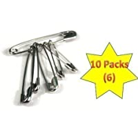 First Aid Safety Pins in Packs of 6 - 10 Packs (Total of 60 Pins) by Crest Medical Ltd preisvergleich bei billige-tabletten.eu