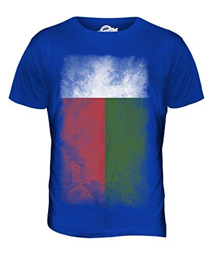 CandyMix Madagaskar Verblichen Flagge Herren T Shirt Königsblau