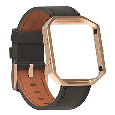 For Fitbit Blaze, SnowCinda Fitbit Blaze Straps Replacement Leather Bands