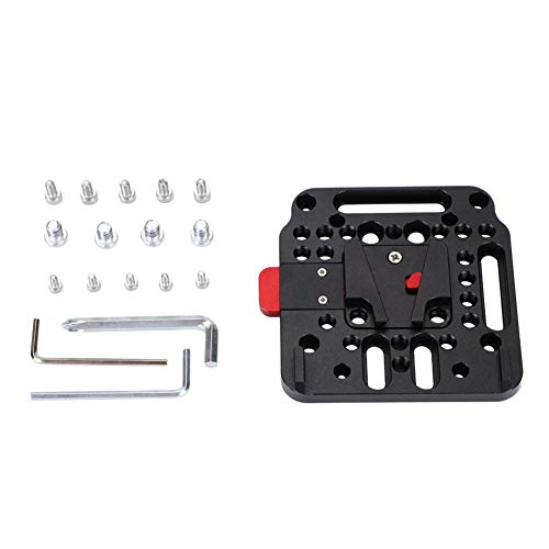 AYNEFY V Lock Montageplatte,Kamera Platte Quick Release Plate V-Lock Assembly mit V-Lock Male Adapter für railblocks und Kurze Ruten Für Ursa Mini Sony FS7 FS5 DJI Ronin M