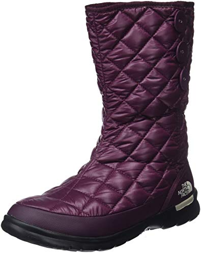 THE NORTH FACE Damen Thermoball Button-up Insulated Schneestiefel, Braun (Shiny Fig/Vintage White 5ug), 38 EU