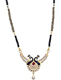 Handicraft Kottage Cz Simulated Gold Plated Mangalsutra For Women