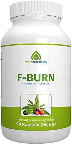 Green Nutrition | F-Burn | Hochdosiert - 90 Kapseln - 100% Natürlich