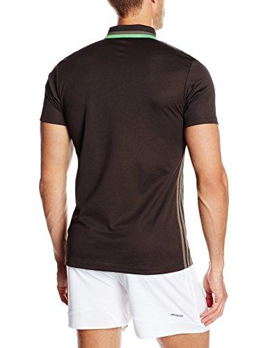 adidas Erwachsene Freizeitbekleidung CL Poloshirt night brown/Branch/Semi solar lime