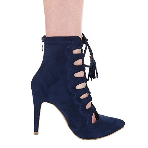 Ital-Design , Sandales femme Bleu - Blue - Dark Blue