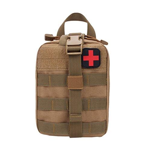 Sweetds Multifunktions Taktische Erste Hilfe Tasche Medizinische Notfalltasche für Outdoor Zuhause Sport Reisen Mud Color