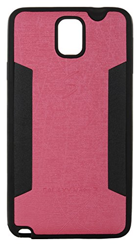 iCandy™ 2 Color Soft Lather Finish Back Cover For Samsung Galaxy Note 3 N9000 - Pink  available at amazon for Rs.115