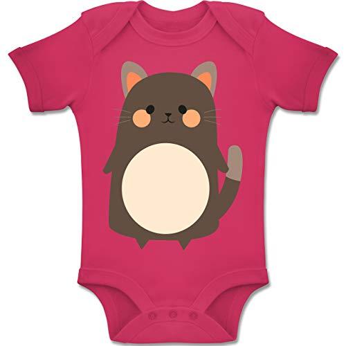 Kostüm Katze 12 Schwarze Monats - Shirtracer Karneval und Fasching Baby - Fasching Kostüm Katze - 12-18 Monate - Fuchsia - BZ10 - Baby Body Kurzarm Jungen Mädchen