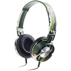 Meliconi 497377BA - Auriculares de diadema abiertos (con micrófono, control remoto integrado), multicolor