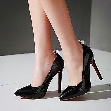 LYNXL Talloni delle donne Primavera Autunno Comfort in similpelle per ufficio e del partito Carriera & abito da sera tacco a spillo con strass Nero Rosa Rosso Black