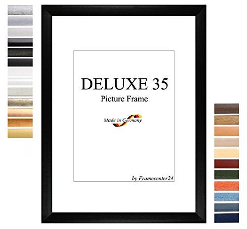 Cadre de Photo d'image DELUXE35 80x110 cm ou 110x80 cm in MERISIER avec Anti-reflet verre artificielle et le mdf panneau arrière, 35 mm baguettes d'encadrement MDF et feuille décorative entièrement recouvrante