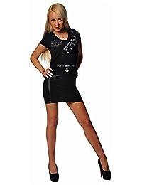 EloModa® Minirock in Leder Optik Matt Gr. S M L XL, 3614 Minirock in Leder Optik Matt Gr. S M L XL, 3614