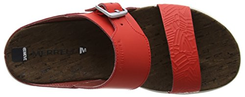 Merrell Around Town Buckle Slide Print, Sandali Donna Rosso (Fiery Red)