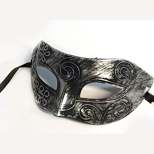 Monlladek Retro Gentleman Gesichtsmaske Kostüm Party Halloween Maske brüniert antiken venezianischen Mardi Gras Masquerade Ball (Masque Ball Kostüme)