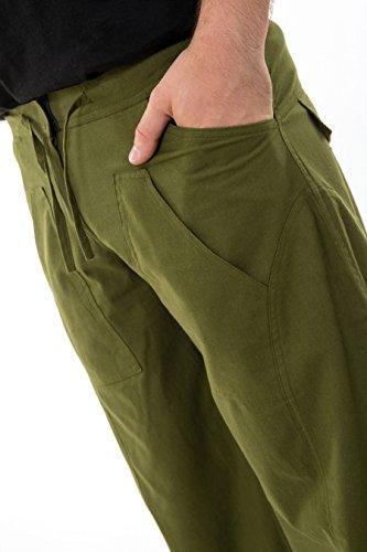 - Pantalon hybride mixte vert kaki army uni - Kaki