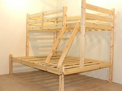 Three sleeper bunk bed - 4ft 6 double Triple sleeper bunkbed - HEAVY DUTY - Can be used by adults