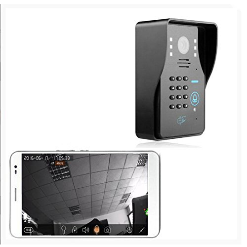 PUTECA Wireless 2.4G WIFI 700TVL 5 IR LED Night vision Camera WiFi Remoter 3G/4G Android/IOS OS Mobile phone APP Control P2P Cloud Service ID Card remoter contorller Keypads IP Video Door Phone Doorbell Intercom System