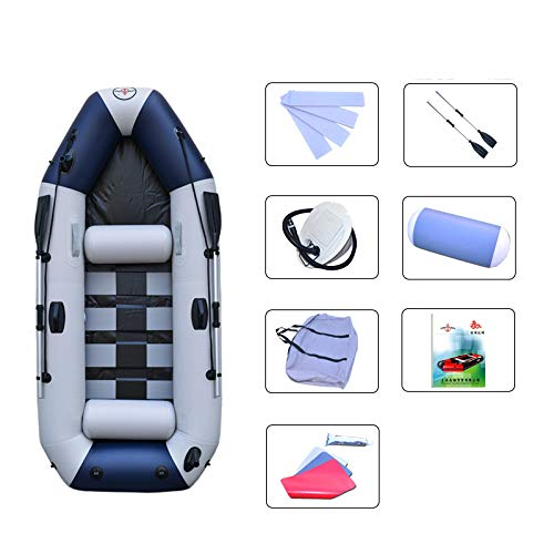 Like Kayak - Schlauchboot Assault Boat 2/3/4 People Drifting Kayak Inflatable Boat Blau Weiß 2,3 Meter Paddel 3 Personen