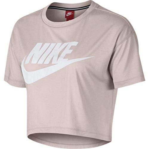 Nike Damen Essential Crop Top, mehrfarbig (barely rose/Barely rose/White), M -