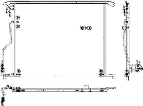 Preisvergleich Produktbild BEHR HELLA SERVICE 8FC 351 301-171 *** PREMIUM LINE *** Kondensator, Klimaanlage
