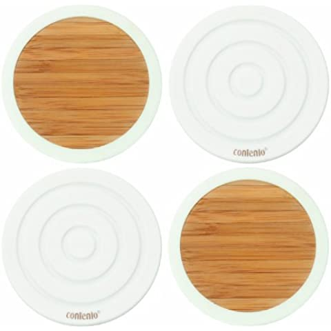 Contento 655023 Tip-Top - Posavasos (bambú y silicona)