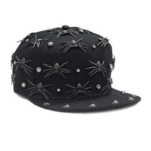 Amosfun Spider Rivet Baseball Cap schwarz Punk Style -