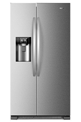 Haier HRF-630IM7 Side-by-Side/A++ / 180 cm Höhe / 355 kWh/Jahr / 375 L Kühlteil / 180 L Gefrierteil/Wasser und Eisspender und Ice Crusher/Edelstahllook