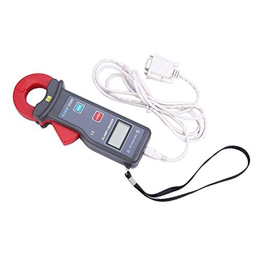 Digital Medidor de corriente de fuga de abrazadera de alta precisión Medición de corriente CA, Rango AC 0.000mA a 60.0A, Tamaño de mordaza 25X30 Mm. Equipado con la función de carga de datos de la int