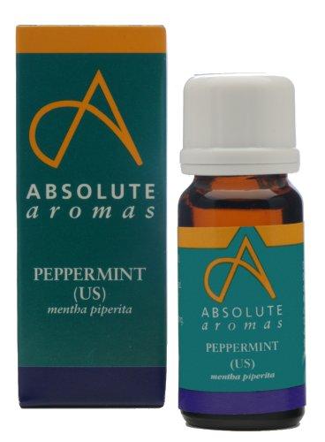 Absolute Aromas Pure US 10 ml d'huile essentielle de menthe poivrée – refroidissement, rafraîchissant et Purification Peut être utilisé dans un Diffuseur ou pour une utilisation d'aromathérapie.